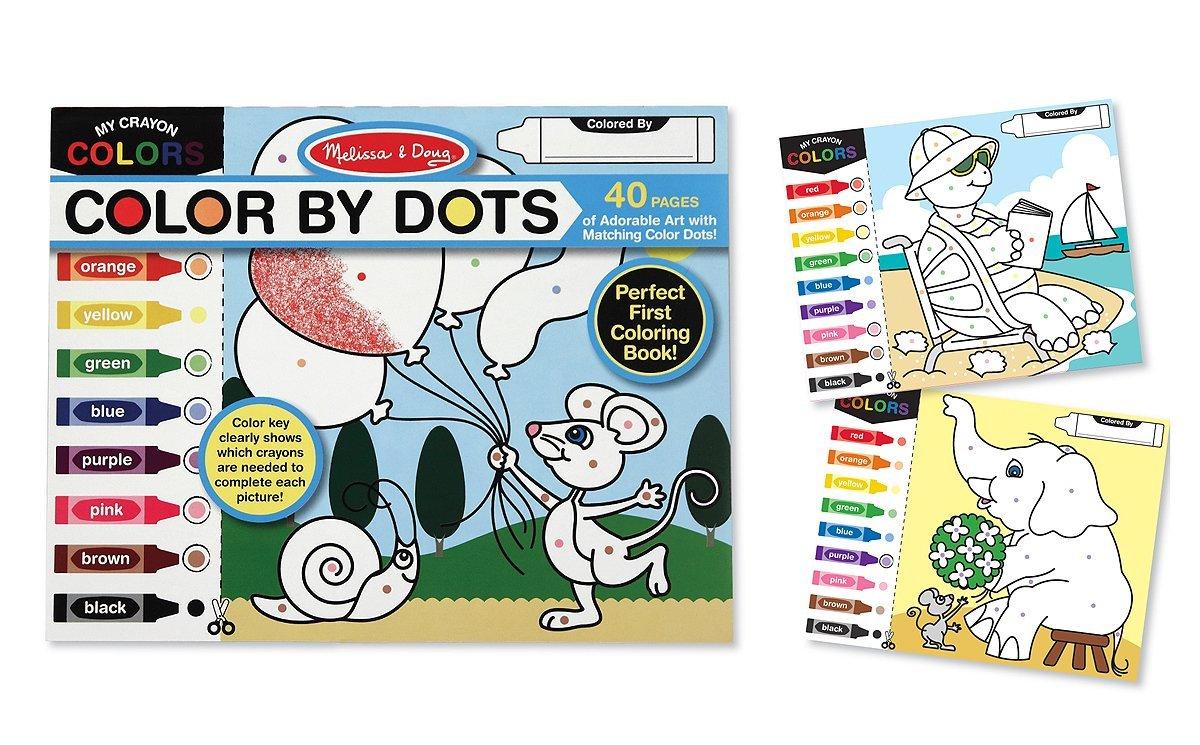 Melissa & Doug Colour by Dots - Curious Kids