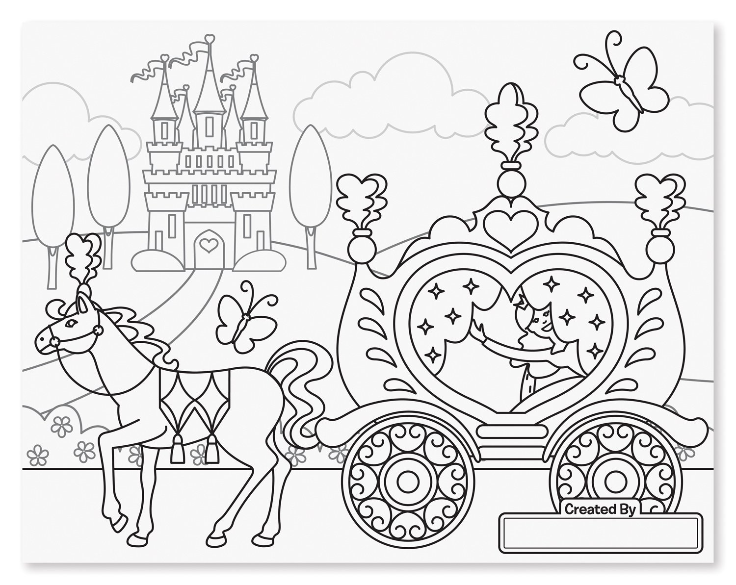 Melissa doug jumbo princess fairy colouring pad for Jumbo coloring pages