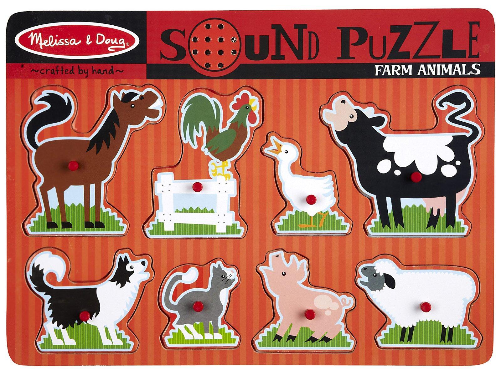 Melissa Doug Sound Puzzle Farm Animals Curious Kids