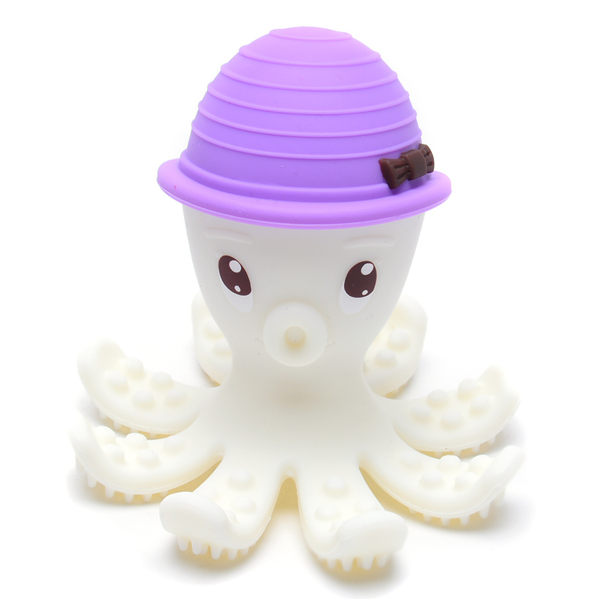 Mombella Octopus Teether Toy Lilac Curious Kids