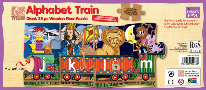 Giant 28 Piece Alphabet Train Wooden Floor Puzzle