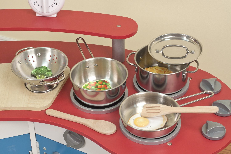 Melissa Doug Stainless Steel Pots Pans 8 Piece Set