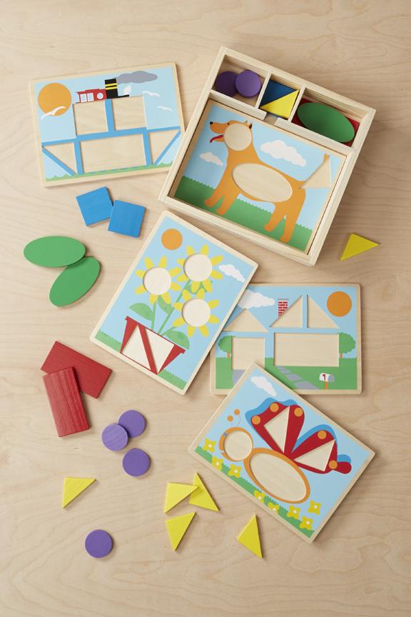 Melissa & Doug Beginner Pattern Blocks - Curious Kids